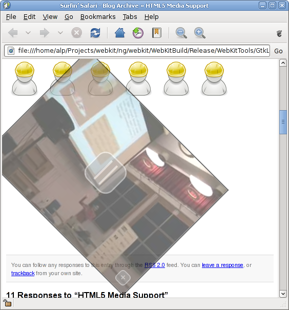 WebKit HTML5 video support with GStreamer