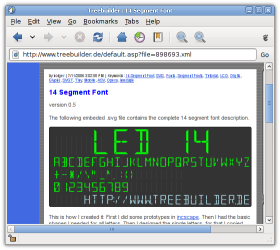 WebKit SVG font