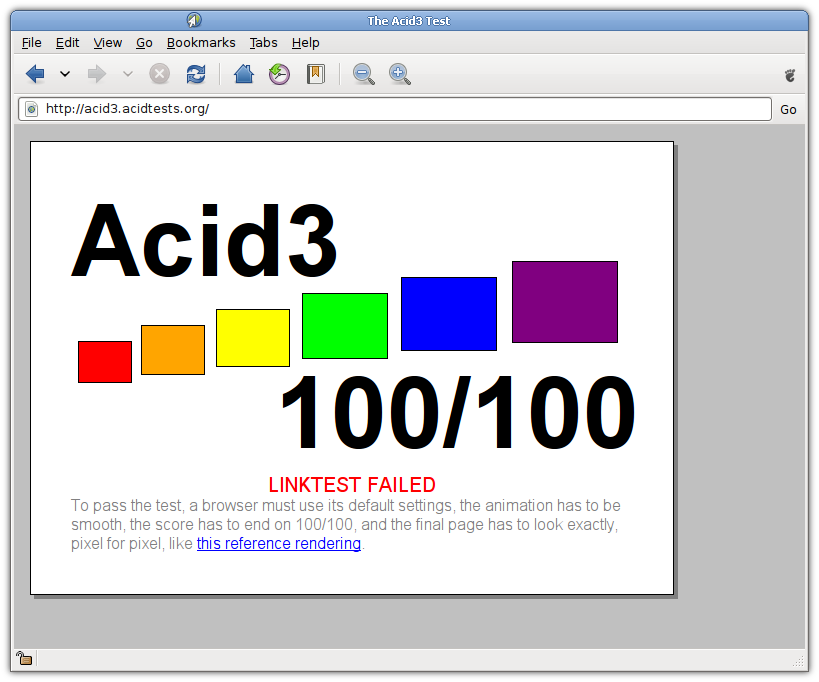 WebKit gets 100% on Acid3
